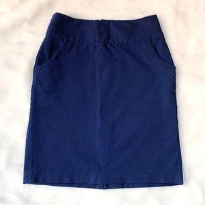 Dark Blue Banana Republic Pencil Skirt w/ Pockets